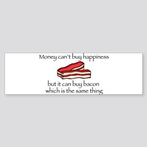 Bacon Money Bumper Sticker