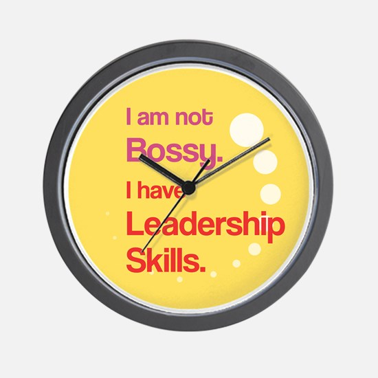 Not Bossy.  Leader. Wall Clock