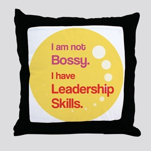 Not Bossy.  Leader. Throw Pillow