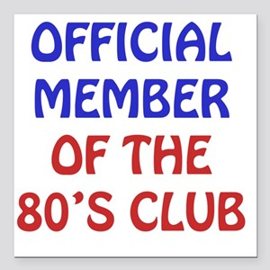 """80th Birthday Official M Square Car Magnet 3"""" x 3"""""""