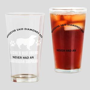 Australian Shepherd Mommy Designs Drinking Glass