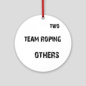 Team Roping Designs Round Ornament