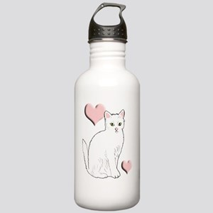 White Kitty Stainless Water Bottle 1.0L