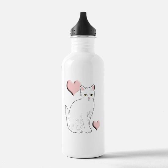 White Kitty Water Bottle