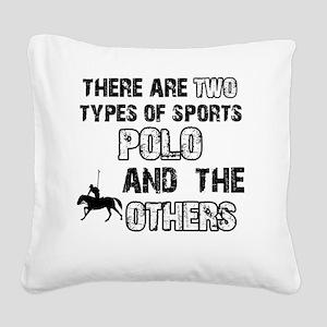 Polo designs Square Canvas Pillow
