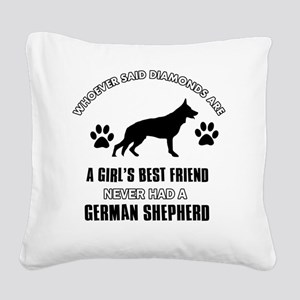 German Shepherd Mommy Designs Square Canvas Pillow