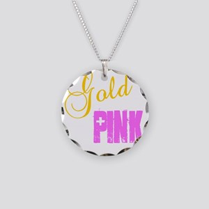 Gold: The New Pink Necklace Circle Charm