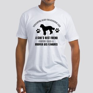 Bouvier Des Flandres Mommy Designs Fitted T-Shirt