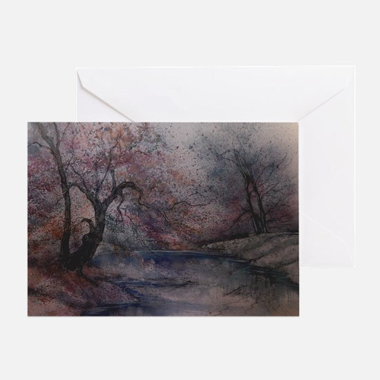 Autumn Pond 1 Greeting Card