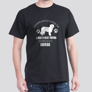 Briard Mommy Designs Dark T-Shirt