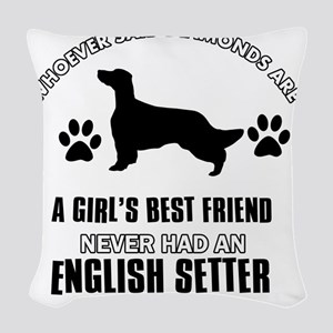 English Setter Mommy Designs Woven Throw Pillow