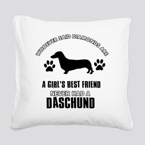 Daschund Designs Square Canvas Pillow