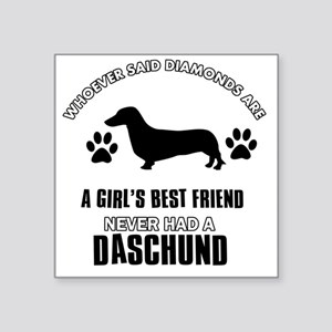 "Daschund Designs Square Sticker 3"" x 3"""