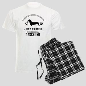 Daschund Designs Men's Light Pajamas