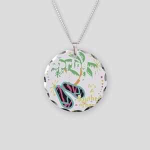 Spring Break Southern Thang Necklace Circle Charm