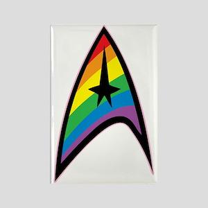 Star Trek LGBTQ Rainbow Rectangle Magnet