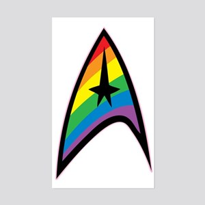 Star Trek LGBTQ Rainbow Sticker (Rectangle)