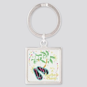 Spring Break Southern Thang Square Keychain