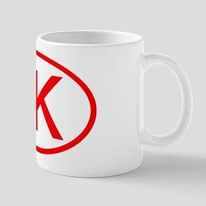 LK Oval (Red) Mug