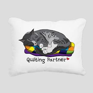 Quilting Partner Rectangular Canvas Pillow