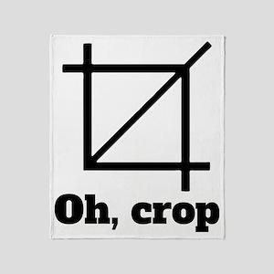 Oh, Crop Throw Blanket