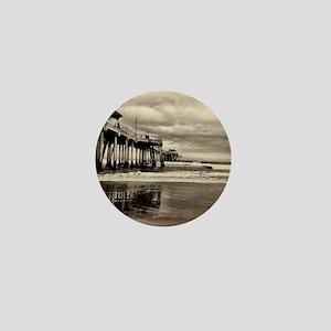 Huntington Beach CA Pier Mini Button