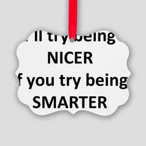 Being Nicer Picture Ornament
