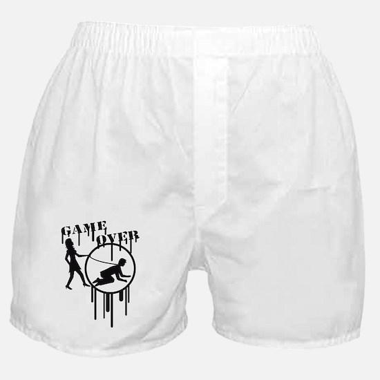 game_over_graffiti_stamp Boxer Shorts