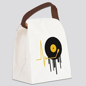 music_pulse_graffiti_stamp Canvas Lunch Bag