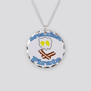 Breakfast Pirate Necklace Circle Charm
