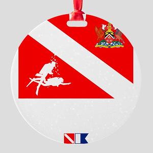 Dive Trinidad and Tabago Round Ornament