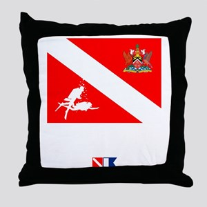 Dive Trinidad and Tabago Throw Pillow