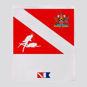 Dive Trinidad and Tabago Throw Blanket