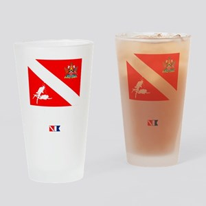Dive Trinidad and Tabago Drinking Glass