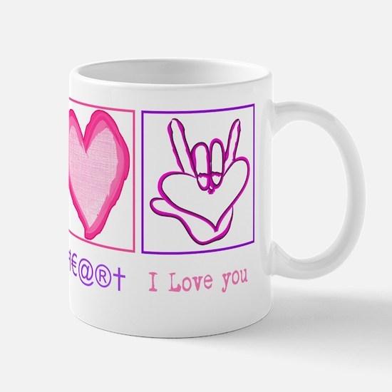 Peace Heart ily Mug