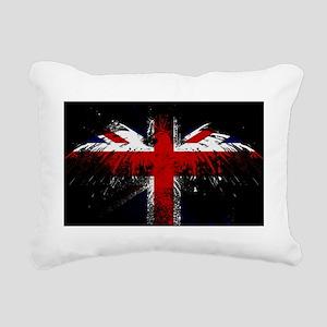 Union Jack Eagle Rectangular Canvas Pillow