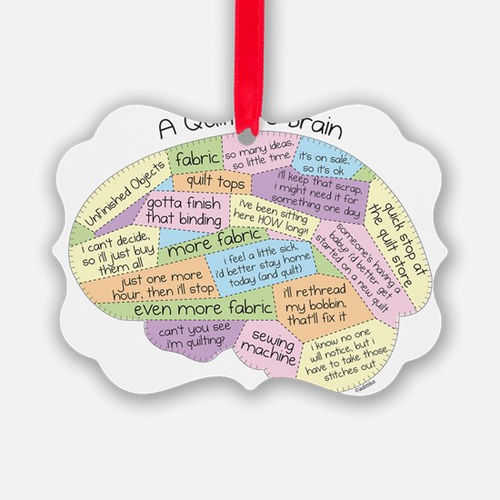 Quilters Brain Ornament