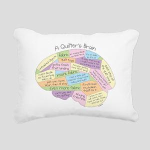 Quilters Brain Rectangular Canvas Pillow