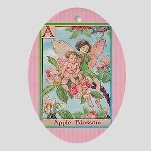 Apple Blossom Fairies Oval Ornament