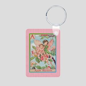 Apple Blossom Fairies Aluminum Photo Keychain