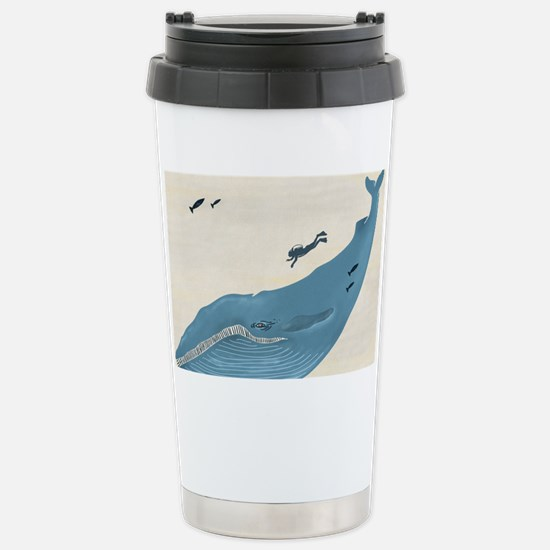 Blue Whale Stainless Steel Travel Mug