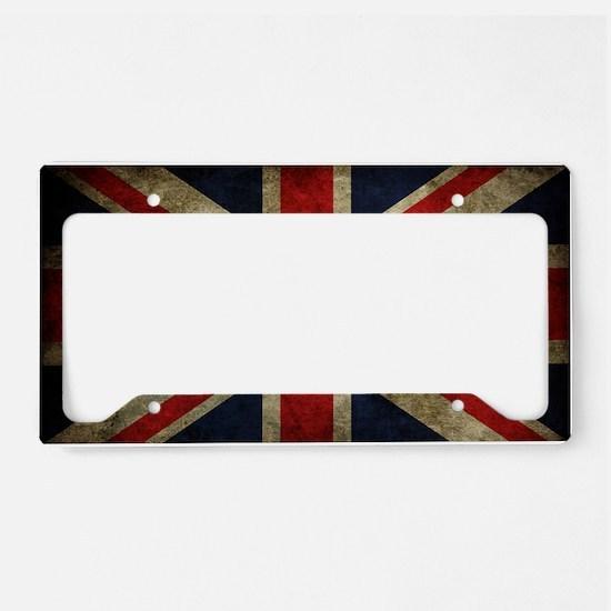 Vintage Union Jack License Plate Holder