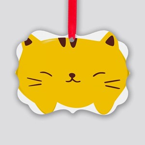 Cute Kitty Picture Ornament