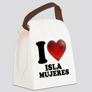 I Heart Isla Mujeres Canvas Lunch Bag