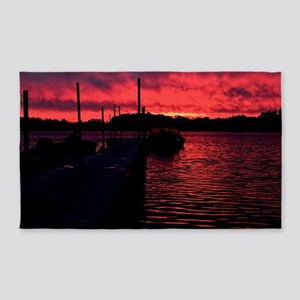 Sunset on a Nothern Lake 3'x5' Area Rug