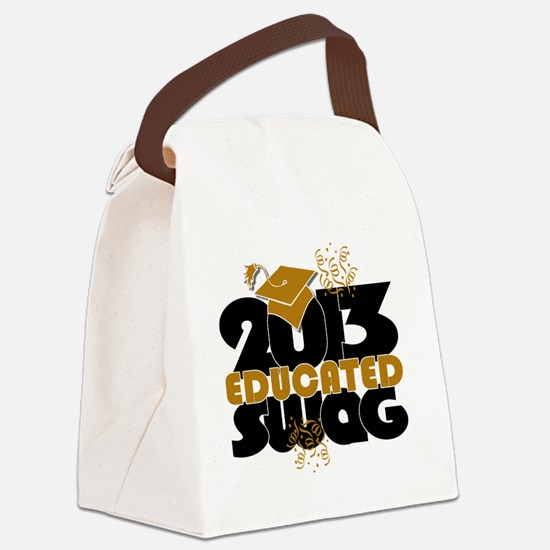 2013 Educated Swag Confetti Canvas Lunch Bag