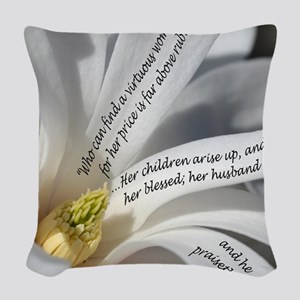 Proverbs 31 Mother Woven Throw Pillow