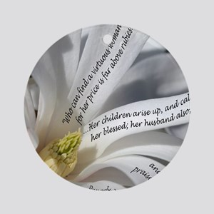 Proverbs 31 Mother Round Ornament