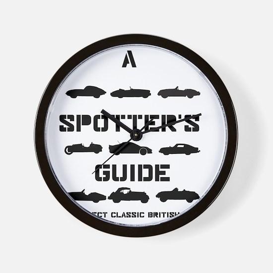 Spotter's Guide to Select Classic Briti Wall Clock
