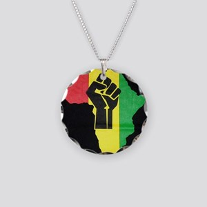 Pan Africa Necklace Circle Charm